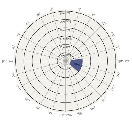 Grafico Vela Regata Andature Poppa 1S Spinnaker Elvstrom