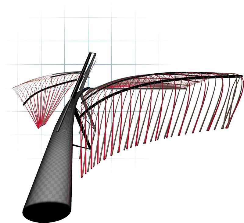 Modello 3D Profilo Vela Elvstrom Alto